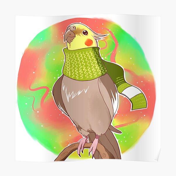 Autumn Cockatiel Poster