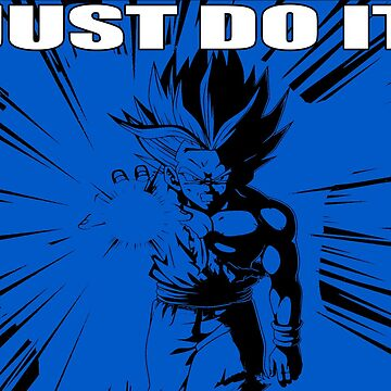 "Gohan ""Just Do It"" with White Letter/Blue by mugenjyaj"