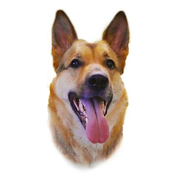 Lady, The Cute & Spoiled Rotten German Shepherd Dog Lovers Merch!  by Fragoutdesign