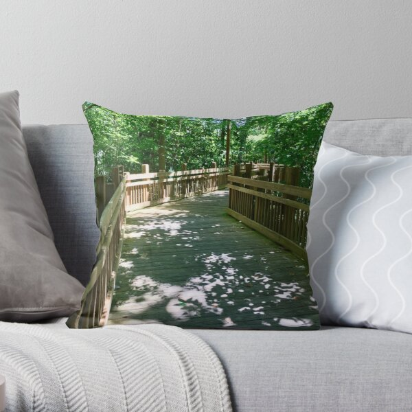 Boardwalk to New Adventures Throw Pillow