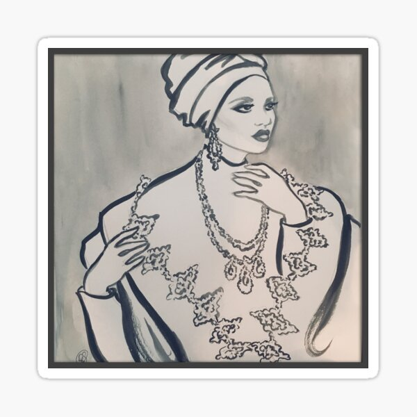 Modest Elegance Sticker