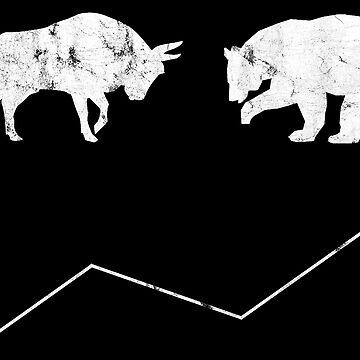 Stock Price Bear Bull Shirt by hourglass7
