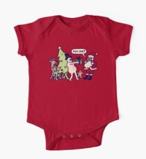 Present For Santa Claus Short Sleeve Baby One-Piece
