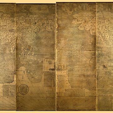 Kun yu wan guo quan tu (World Map 1602) by Matteo Ricci by allhistory