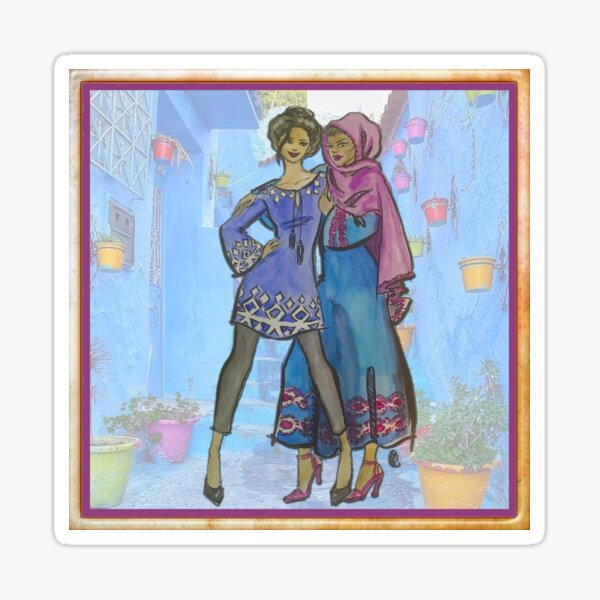 Sisters in Blue Sticker