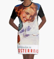 Winter delights in Austria Graphic T-Shirt Dress