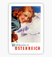Winter delights in Austria Sticker