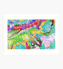 Lámina artística Tie Dye Rainbow