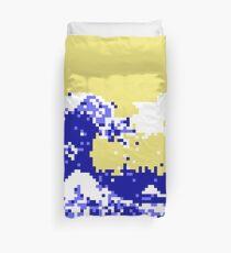 Pixel Tsunami Duvet Cover