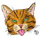 Orange Tabby Cat Face by SonneFaunArt