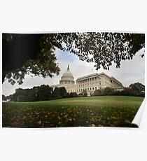 US Capital - fall foliage Poster