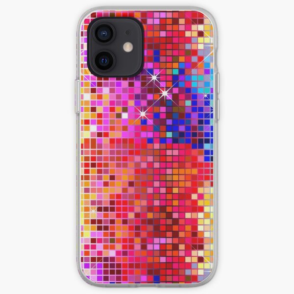Metallic Colorful Sequins Look-Disco BallGlitterPattern  iPhone Soft Case