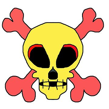 Bright colorful skull and cross bones by franceslewis