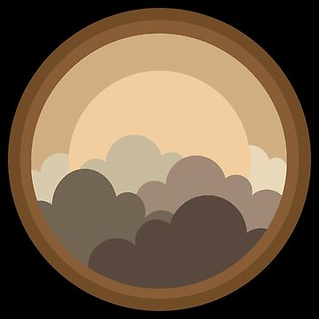 Flat Design - Sunset Out Of Round Window - Gift Idea by vicoli-shirts