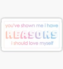 BTS Answer Love Myself Lyrics Sticker