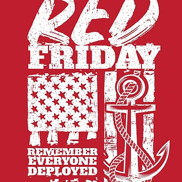 Red Friday Navy Family Deployed by StudioMetzger