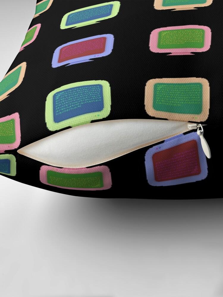 Alternate view of Pixel Art Vintage Computer Screens Colorful Pattern Floor Pillow