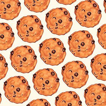 Cookie Pattern - White by KellyGilleran
