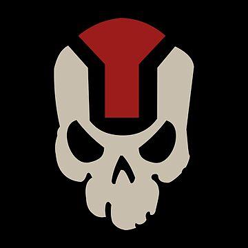 COD Black Ops 4 MX9 Skull by imadinosrawr