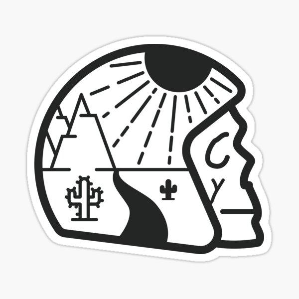 Casque du désert + crâne Sticker