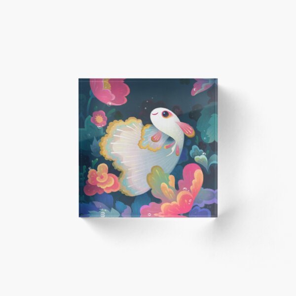 Flower guppy Acrylic Block