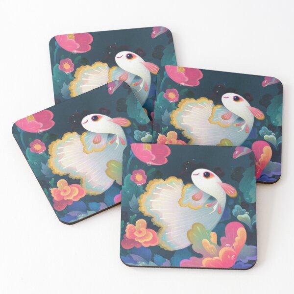Flower guppy Coasters (Set of 4)