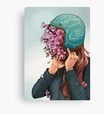 A Head full of Daisies and Daydreams - Women Who Ride Canvas Print