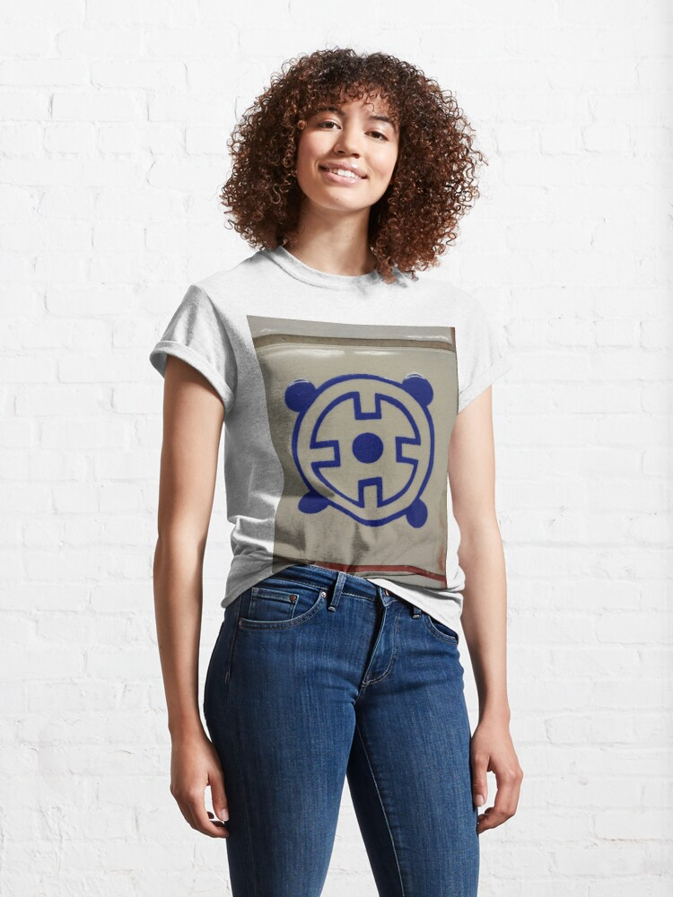 Alternate view of #blue #material #znamensk #sign text symbol illustration vector number logo design colorimage Classic T-Shirt