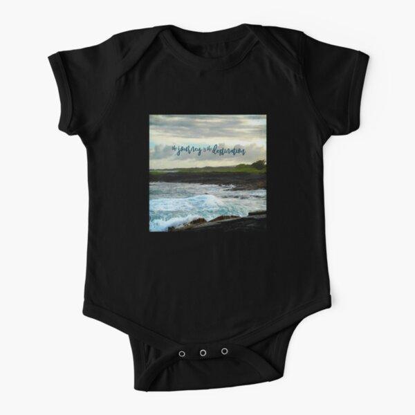 Hawaiian Palm Tree and Sea Turtle Cute Toddler//Infant Short Sleeve Shirt Tee