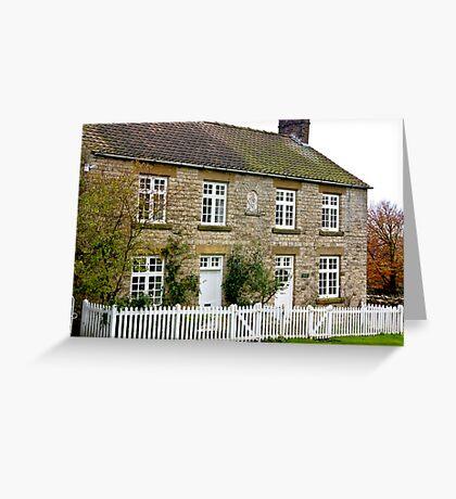 Cottages  c1892 Old Byland-North Yorkshire. Greeting Card