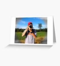 The Photographer... Greeting Card