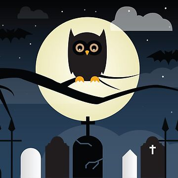 Halloween Scene Owl by Bethany-Bailey