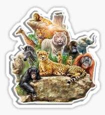 lion. tiger. bear. oh my. Sticker