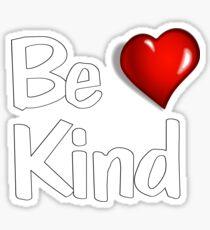Be Kind Heart T-shirt Sticker