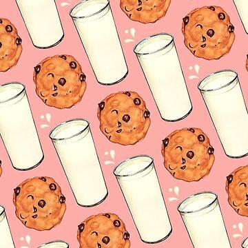 Milk & Cookies Pattern - Pink by KellyGilleran