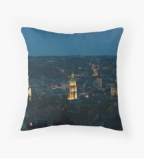 Early evening over Lviv Throw Pillow