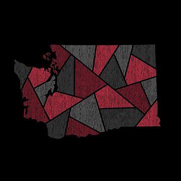 Washington Mosaic - Maroon by DesignSyndicate