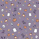 Gespenstisches nettes Halloween-Muster von raediocloud