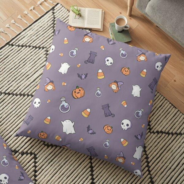 Spooky Cute Halloween Pattern Floor Pillow