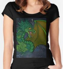 Storm Dragon Fitted Scoop T-Shirt