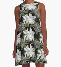 Elegant Orchids ~ Cluster of Three A-Line Dress