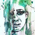 Portrait  in Green by Picatso