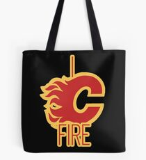 """I See Fire """"C"""" of Red Tote Bag"""