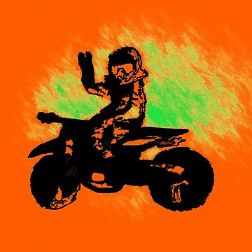 Peace Man! - Motocross Racer by NaturePrints