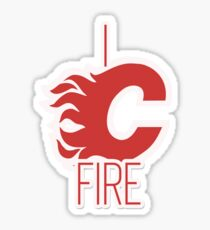 """I See Fire """"C"""" of Red - white variant Sticker"""