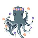 Floral Octopus by Harmonycornwell