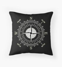 Clock Design - Compass - North - South - West - East Floor Pillow