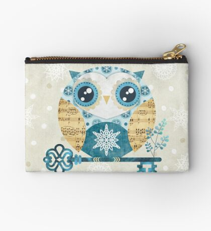 Winter Wonderland Owl Zipper Pouch