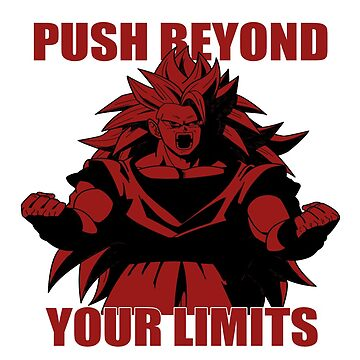 "Goku ""Push Beyond Your Limits"" All Red/ Outer White by mugenjyaj"