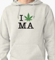 I [weed] Massachusetts Pullover Hoodie
